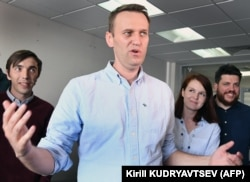 Russian opposition leader Aleksei Navalny in Moscow on July 7.
