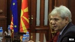 Лидерот на Демократската унија за интеграција Али Ахмети