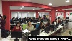 Вработени во компанијата Слице Македонија.