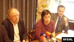 Zdenko Duka, Gabrijela Galić i Marijan Belčić, 3. maj 2010. Foto: Enis Zebić