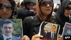 تظاهرة إحتجاج ضد إغتيال الصحفي الكردي سردشت عثمان