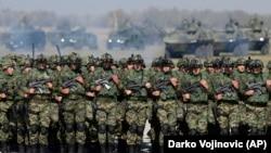 Vojska Srbije, vojna vežba, aerdorom Batajnica, oktobar 2017
