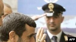 محمود احمدی نژاد برای حضور در نشست فائو به رم، پایتخت ایتالیا، سفر کرده بود.(عکس: AFP)