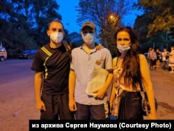 Сергей Наумов и Светлана с Евгением Дильман