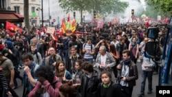 Demonstracije u Parizu protiv spornih reformi zakona o radu 26. maja 2016. godine, ilustrativna fotografija