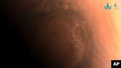 Фотография поверхности Марса, сделанная китайским аппаратом Tianwen-1.
