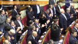 Рада ухвалила бюджет на 2015 рік. 233 голоси – за
