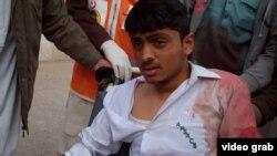 یکی از مجروحان حمله روز سه شنبه طالبان در بیمارستان