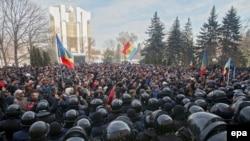 Антиправительственные выступления в Молдавии. 21 января 2016 года