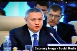 Uzbek Finance Minister Rustam Azimov has more experience dealing with the outside world.