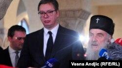 Српскиот претседател Александар Вучиќ и патријархот на СПЦ Иринеј