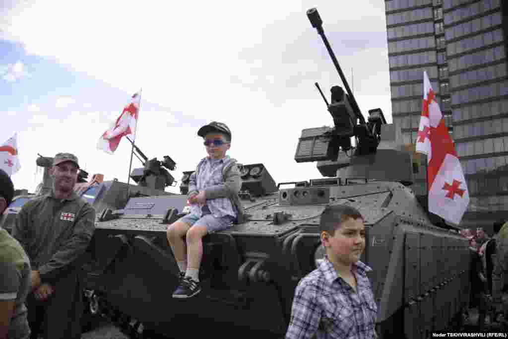 """Georgia -- The """"industrial parade"""" in Tbilisi. 26May2012"""