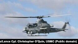 Elicopter AH-1Z Viper la baza Pușcașilor Marini de la Camp Pendleton, California, 19 decembrie 2008.