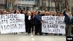 Protesti u Sarajevu protiv vlasti u BiH, februar 2014.