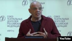 Константин Райкин на съезде Союза театральных деятелей, октябрь 2016