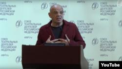 Константин Райкин дар анҷумани иттиҳоди ходимони театр