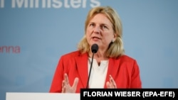 Austrian Foreign Minister Karin Kneissl (file photo)