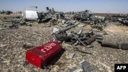 Обломки самолета A321 российской авиакомпании на Синайском полуострове. 1 ноября 2015 года.