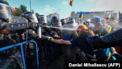 Ciocniri violente la protestul anti-guvernamental de pe 10 august, 2018, București