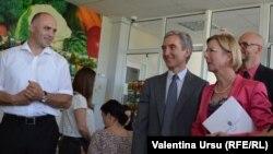Premierul moldovean Iurie Leancă și ambasadoarea Suediei Ingrid Tersman la lansarea strategiei pentru încurajarea reformelor.
