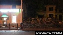 Дом мещан Моториных после сноса