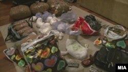 Откриена дрога во стан во Скопје, 11 ноември 2011.
