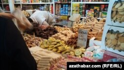 Türkmənistan, Lebap kəndi, ərzaq mağazası