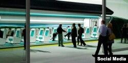 Hyperloop One qatarı layihəsi. Platforma. Xəyali təsvir