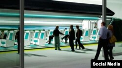 Ппроект вакуумного потяга Hyperloop у США.