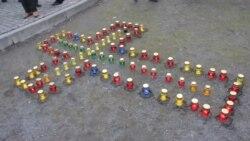 У Черкасах відбулася жалобна акція пам'яті жертв Голодомору