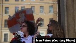 Акция солидарности с гражданами Белоруссии, 16 августа