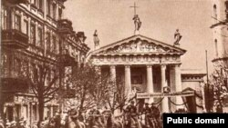 Літоўскае войска ўваходзіць у Вільню, 28.10.1939