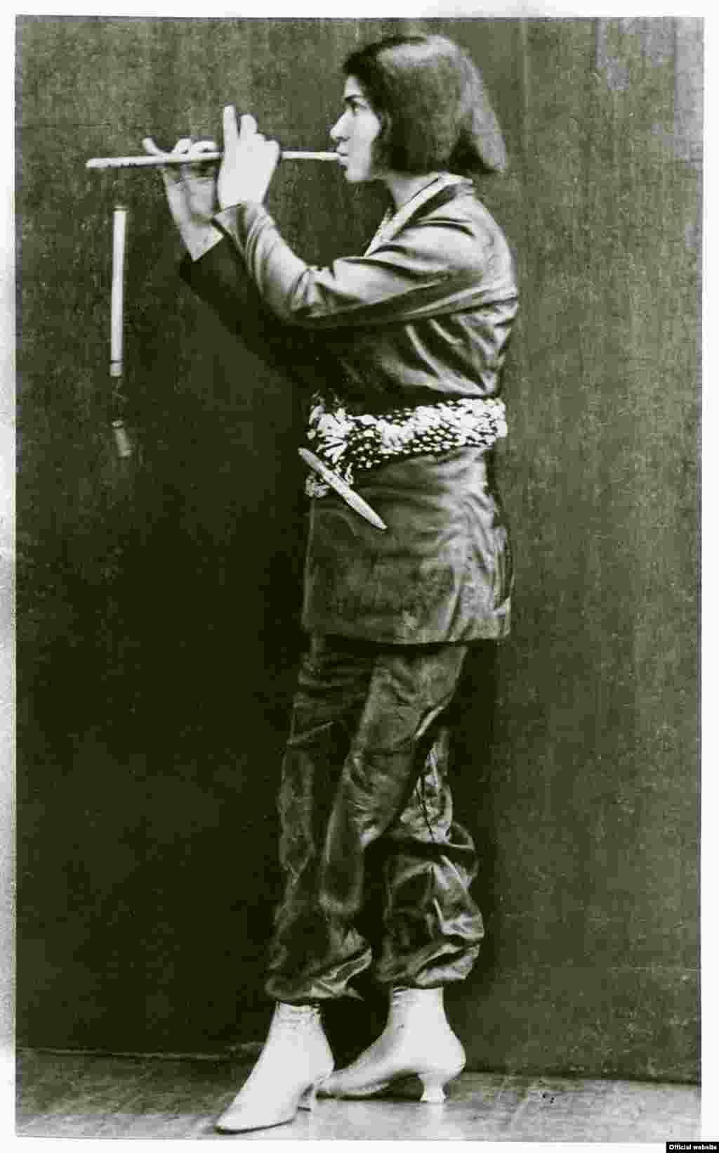 Else Lasker Schüler, Flötenspielende, 1912.