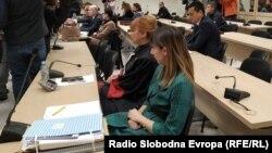 """Архивска фотографија- Судењето за случајот """"Рекет"""" во кривичниот суд во Скопје."""