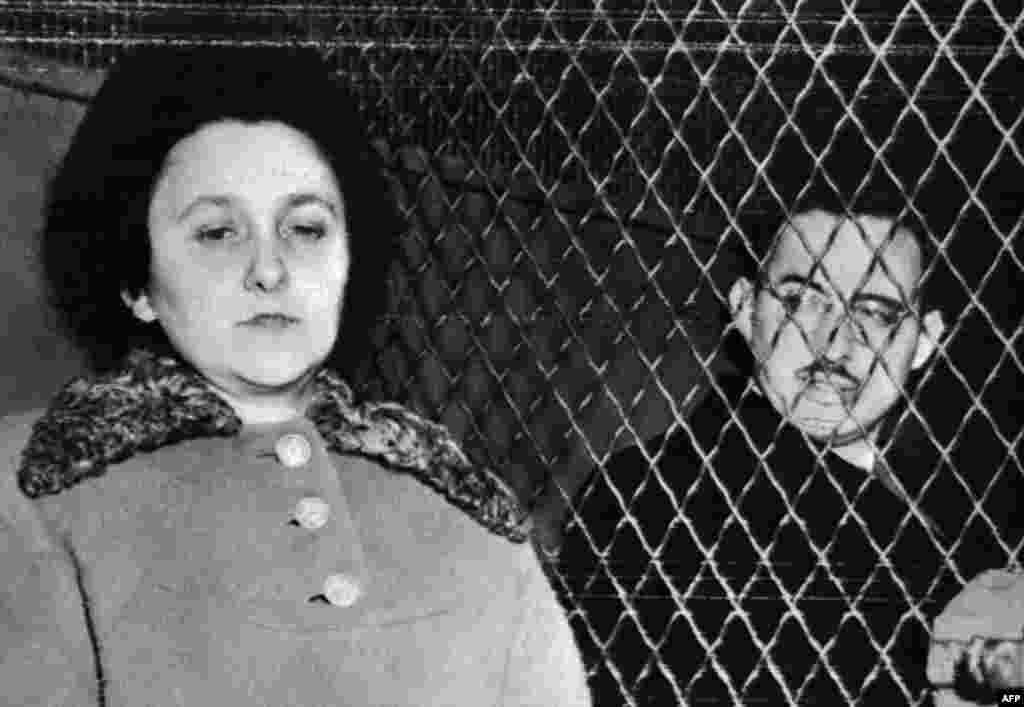 Ethel and Julius Rosenberg shortly before their execution on June 19, 1953.