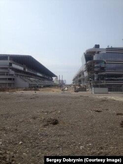 Строительные работы в Олимпийском парке