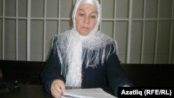Познатата татарска писателка, активистка и лидерка на самопрогласеното пантатарско движење Мили Меџилис(Национално собрание), Фаузија Бајрамова.
