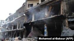 Архива - Урнати згради во судирите во ситиската провинција Идлиб.