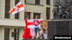 Акция протеста в Минске, 15 августа 2020 года