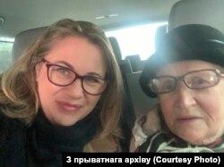 Ксенія Сьвятлова і Ніна Багінская ў Менску