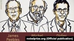 Одну частину премії отримає Джеймс Піблз «за теоретичні відкриття у фізичній космології», ще одну частину отримають Мішель Майор і Дідьє Кело – «за відкриття екзопланети на орбіті довкола сонцеподібної зірки»
