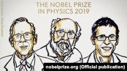 Лауреаты Нобелевской премии по физике 2019 года.