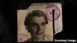 Fotografia de pașaport a Dianei Budisavljevic în 1945