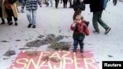 Prizor iz centra Sarajeva, 2. novembar 1995.
