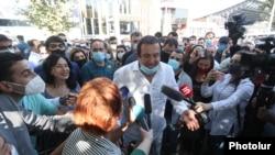 Царукян перед зданием суда, 25 сентября 2020 г.