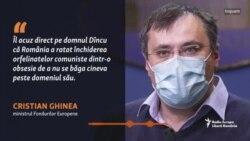 Acuzațiile ministrului Ghinea