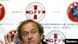 Мишел Платини, раиси Иттиҳоди созмонҳои футболи Урупо (UEFA)
