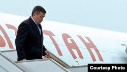 Президент Кыргызстана Сооронбай Жээнбеков в ходе своего предыдущего рабочего визита в Россию.