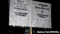 La protestul de astă-seară din Piața Victoriei