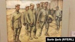 """Camil Ressu, Prizonieri, ulei pe carton, 1918, MANR; Expoziția """"Marea Unire s-a născut din dezasterele războiului"""""""